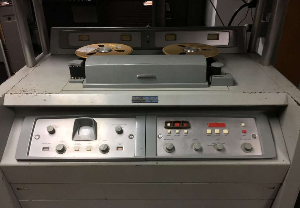 This Dec. 14, 2016 photo released by the Museum of Broadcast Technology shows an Ampex model VR-1000B at the Museum of Broadcast Techno...