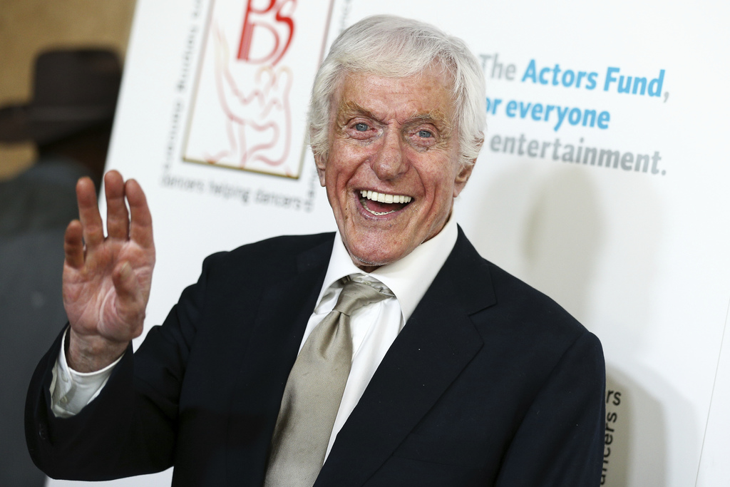 FILE - In this April 24, 2016, file photo Dick Van Dyke attends the 29th Annual Gypsy Awards Luncheon held at the Beverly Hilton Hotel ...