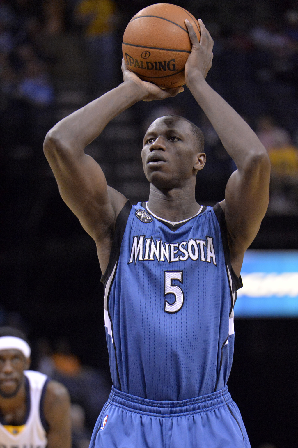 FILE - This is a Wednesday, March 16, 2016,  file photo of Minnesota Timberwolves, Gorgui Dieng, from Senegal plays in the first half o...