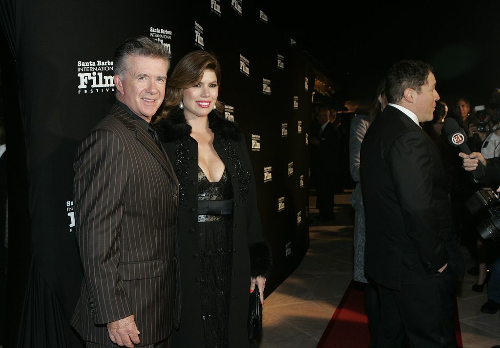 FILE - In this Nov. 19, 2010, file photo, Alan and Tanya Thicke pose on the red carpet before Santa Barbara International Film Festival...