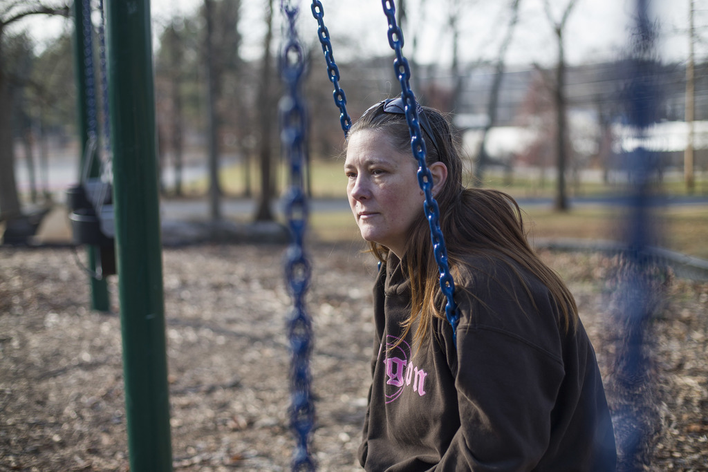Teka Russell sits in East Frankfort Park in Frankfort, Ky., on Saturday, Dec. 10, 2016. She has many special memories with her son, D'n...