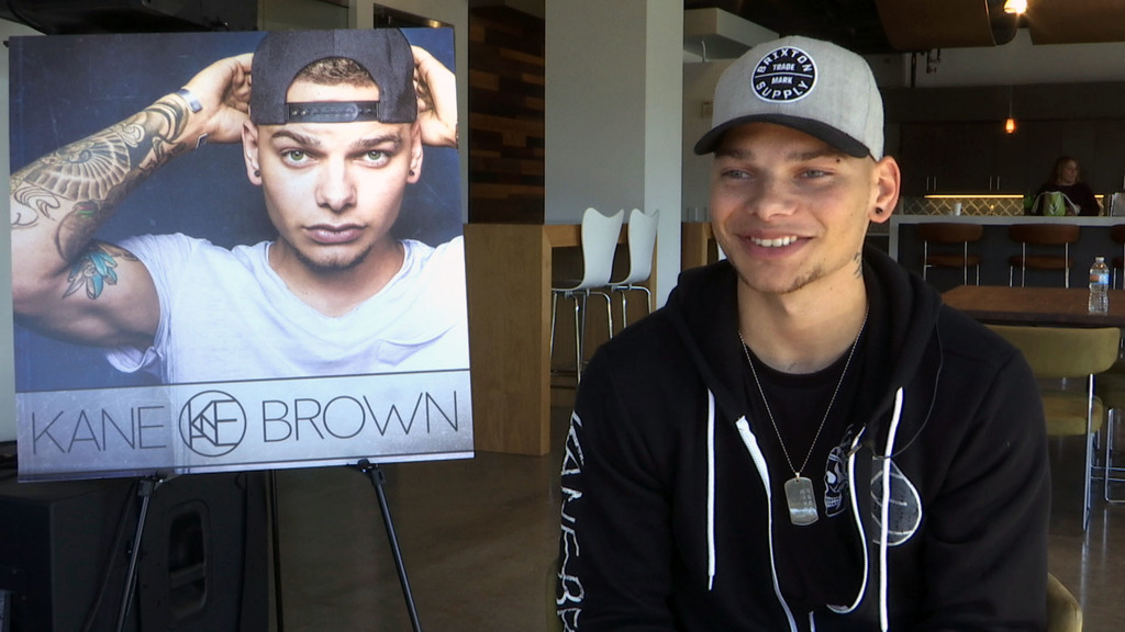 This Nov. 9, 2016 image taken from video shows Kane Brown during an interview in Nashville, Tenn. The 23-year-old singer was rejected b...