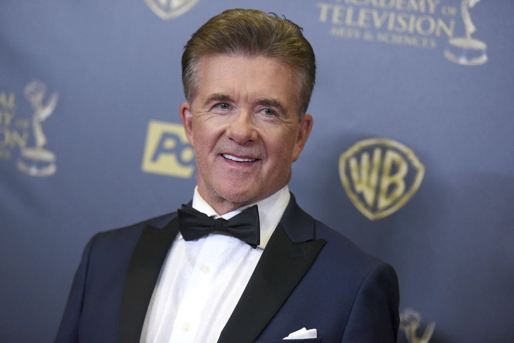 FILE - In this Sunday, April 26, 2015 file photo, Alan Thicke poses in the pressroom at the 42nd annual Daytime Emmy Awards at Warner B...