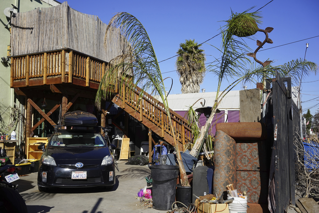 This Dec. 19, 2016 photo shows the exterior of an underground music club known as known as Purple 33 in the Playa Vista neighborhood of...