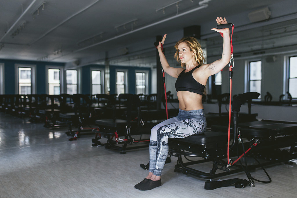 This undated photo provided Mischief Media Group|MMG and SLT shows fitness trainer Bethany Meyers. Models love her pilates, cardio and ...
