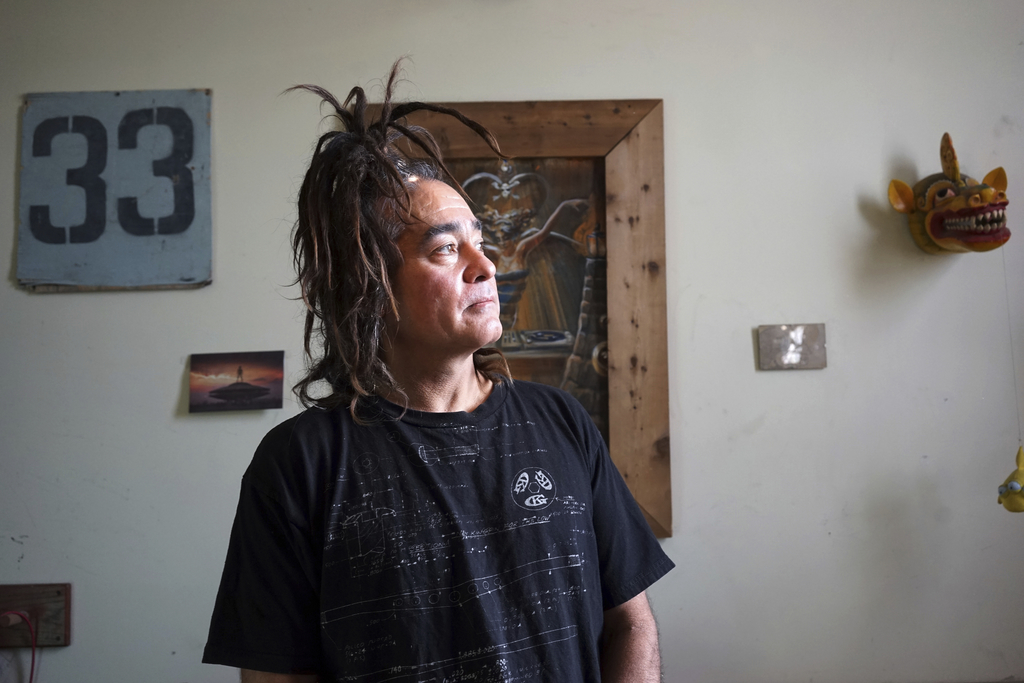This Dec. 19, 2016 photo shows Donald Cassel, 56, the proprietor of an underground music club known as Purple 33 in a Playa Vista neigh...