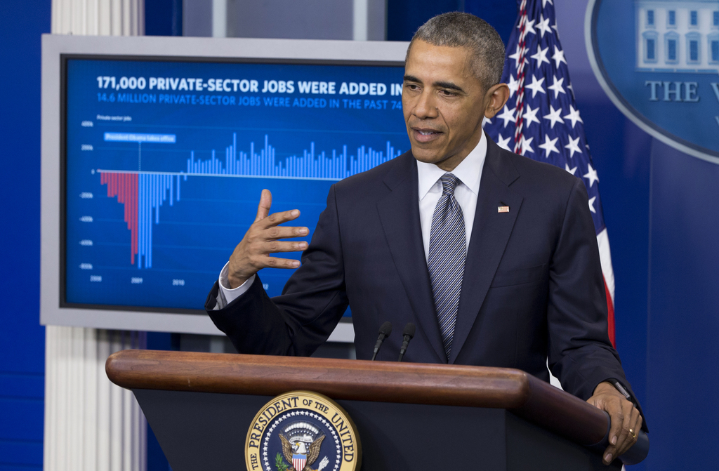 FILE - In this May 6, 2016, file photo, President Barack Obama speaks in the White House briefing room in Washington. He was a first-te...