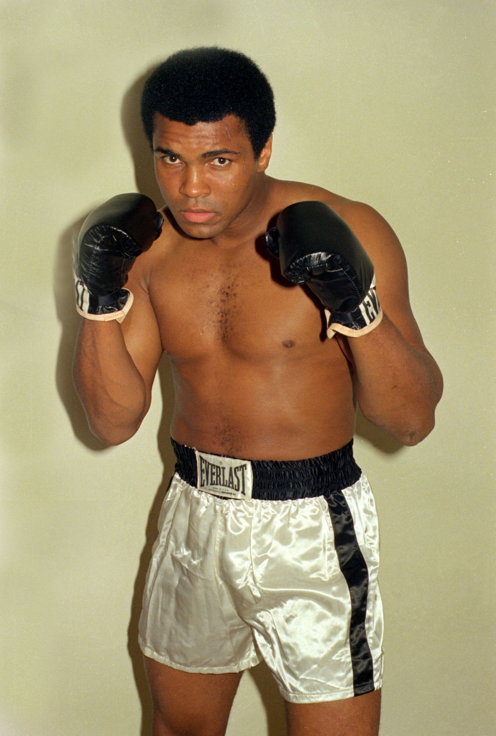 FILE - This is an Oct. 9, 1974, file photo showing Muhammad Ali.  He proclaimed himself The Greatest. He did it with wit and guile, boa...