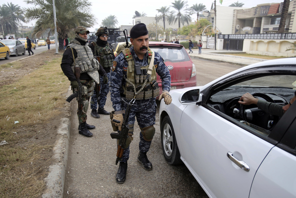 Iraqi security forces deploy in Baghdad's southwestern Saydiyah neighborhood searching for  kidnapped journalist Afrah Shawqi al-Qaisi,...