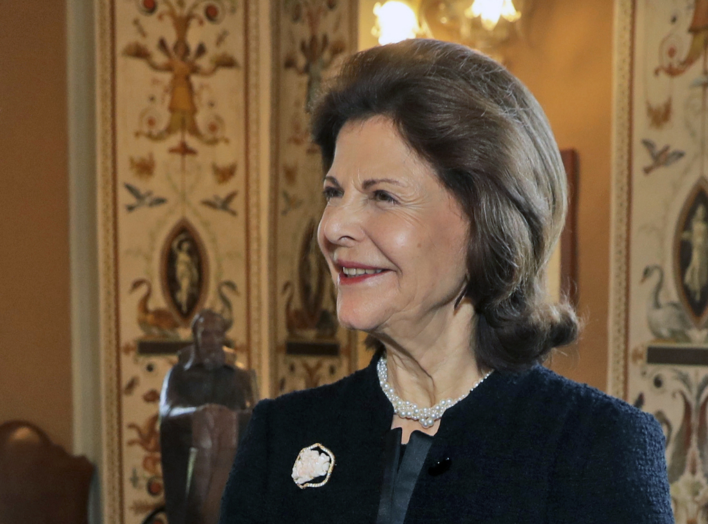 FILE - In this file photo dated Thursday, Nov. 24, 2016, Queen Silvia of Sweden during a meeting with the Pope, at the Vatican. Sweden'...