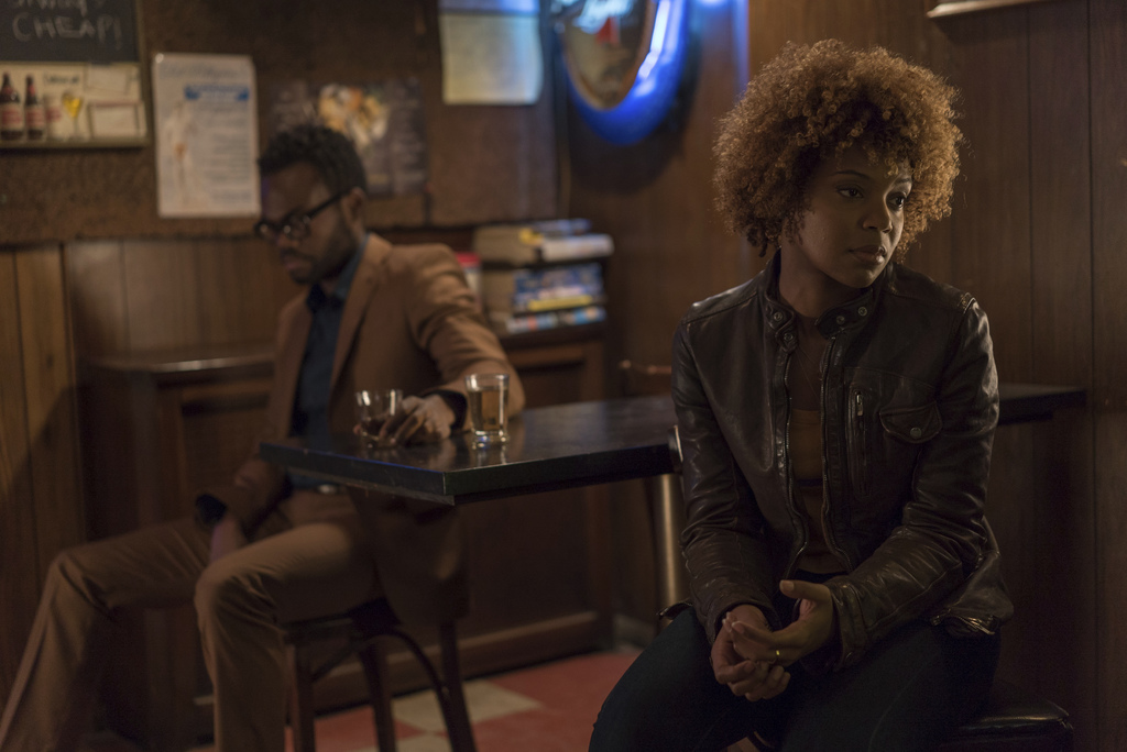 """This image released by Amazon Studios & Bleecker Street shows William Jackson Harper, left, and Chasten Harmon in a scene from, """"Paters..."""