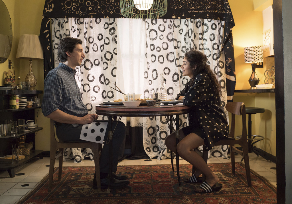 """This image released by Amazon Studios & Bleecker Street shows Adam Driver, left, and Golshifteh Farahani in a scene from, """"Paterson."""" (..."""
