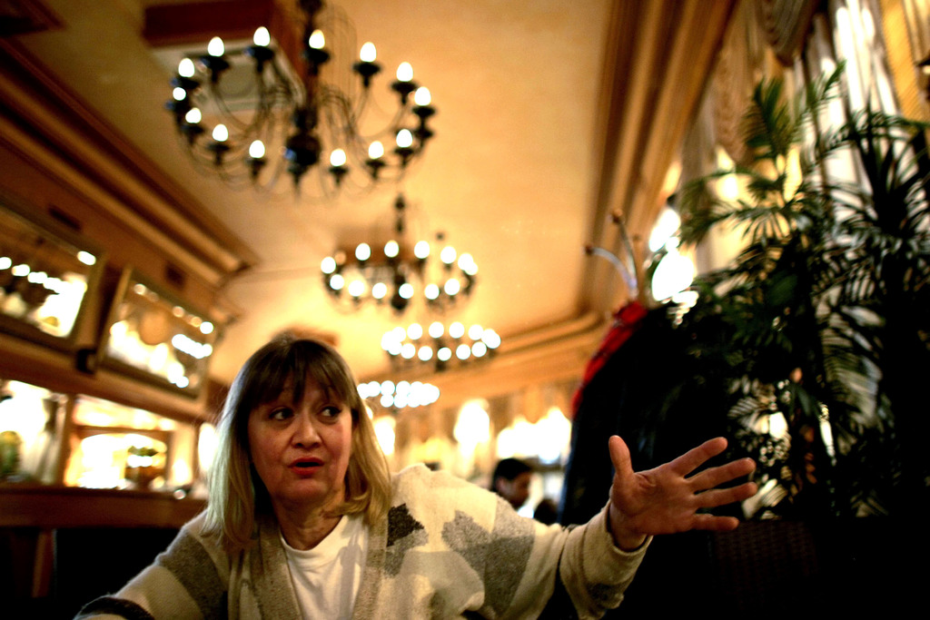 FILE-In this Friday, Feb. 15, 2008 file photo, Vesna Vulovic, an ex-air stewardess, and survivor of a fall from 10,000 meters when in 1...