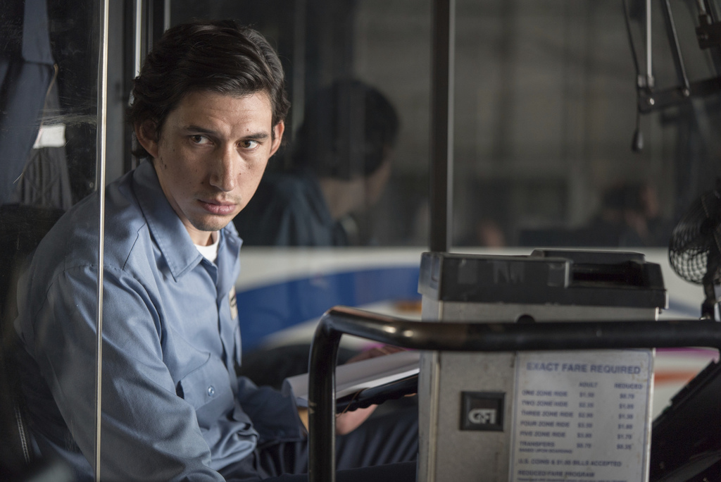 """This image released by Amazon Studios & Bleecker Street shows Adam Driver in a scene from, """"Paterson."""" (Mary Cybulsky/Amazon Studios & ..."""