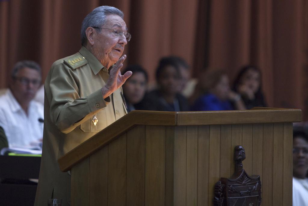 Cuba's President Raul Castro addresses the National Assembly in Havana, Cuba, Tuesday, Dec. 27, 2016. (Ladyrene Perez, Cubadebate via A...