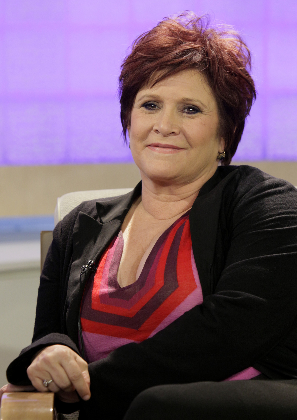 "FILE - In this Tuesday, Sept. 29, 2009 file photo, actress and writer Carrie Fisher appears on the NBC ""Today"" television program in Ne..."