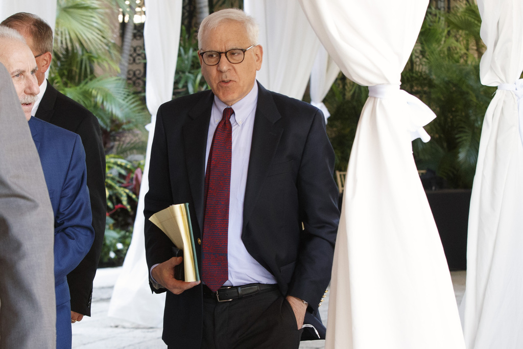 The Carlyle Group co-CEO and co-Founder David Rubenstein arrives at Mar-a-Lago for meetings with President-elect Donald Trump and his t...