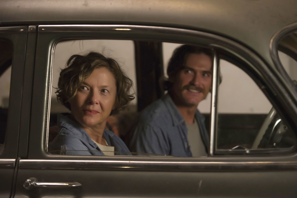 "This image released by A24 shows Annette Bening and Billy Crudup in a scene from ""20th Century Women."" Bening is getting some of the be..."