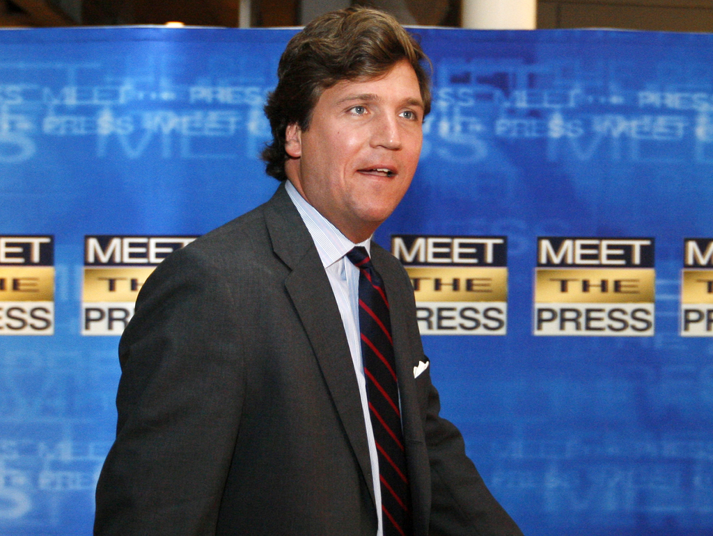 FILE - In this Nov. 17, 2007 file photo, political commentator Tucker Carlson arrives for the 60th anniversary celebration of NBC's Mee...