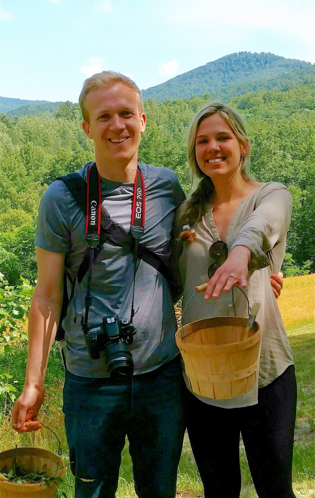 In this June 18, 2016 photo provided by No Taste Like Home, Rachel Linkous, with Christopher Rannefors, both 25, of Lexington, Ky., sho...