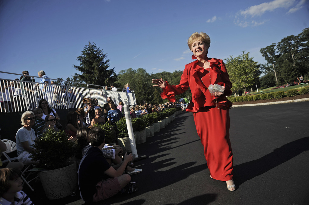 FILE- In this July 2, 2010, file photo, actress Debbie Reynolds arrives at The Greenbrier for the gala opening of the Casino Club in Wh...