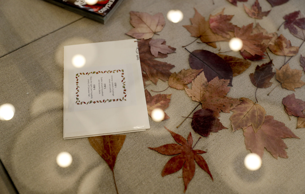 An envelope of leaves mailed from Canada to San Diego so a long-distance paramour could experience changing seasons in Southern Califor...