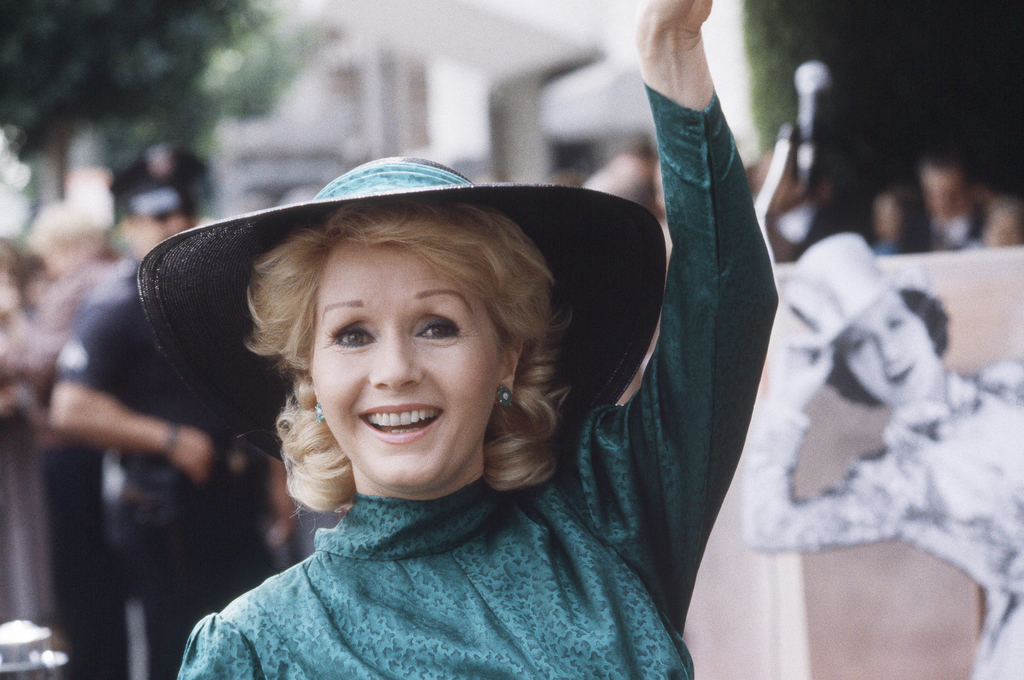FILE- In this Feb. 15, 1984, file photo, actress Debbie Reynolds appears at Hollywood Walk of Fame ceremonies in Los Angeles. Reynolds,...