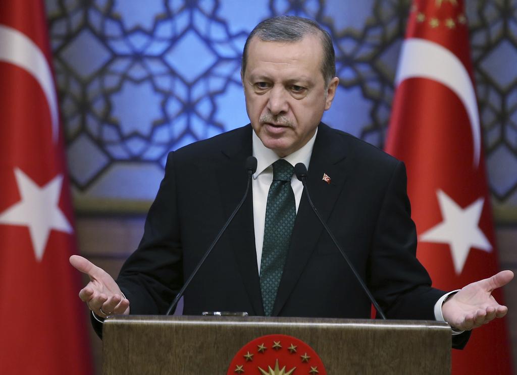 Turkey's President Recep Tayyip Erdogan addresses during an award ceremony in Ankara, Turkey, Thursday, Dec. 29, 2016. Turkey on Thursd...