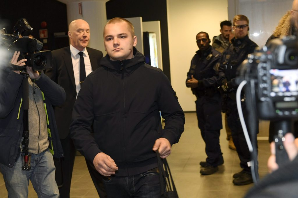 FILE - This is a Dec.  21, 2016 file photo of Jesse Torniainen, a member of the Finnish neo-Nazi group Finnish Resistance Movement (FRM...