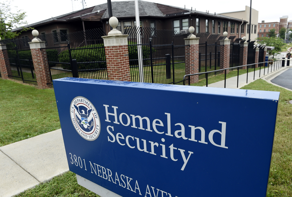 FILE - In this June 5, 2015, file photo, the Homeland Security Department headquarters in northwest Washington. The U.S. has released i...