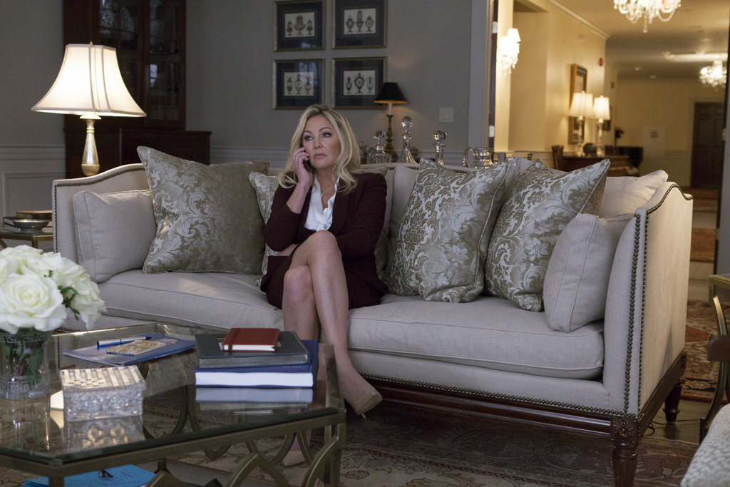 """This image released by TLC shows Heather Locklear as First Lady Christian in a scene from Tyler Perry's TLC drama """"Too Close to Home."""" ..."""