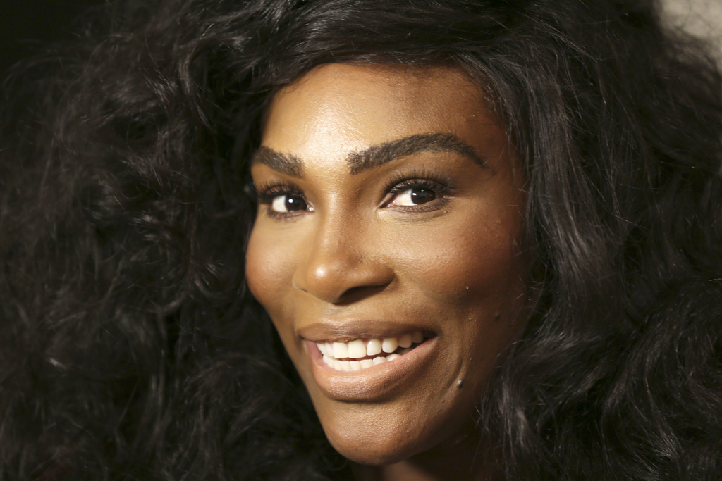 FILE - In a Monday, Sept. 12, 2016 file photo, Serena Williams speaks to reporters before showing her Serena Williams Signature Stateme...