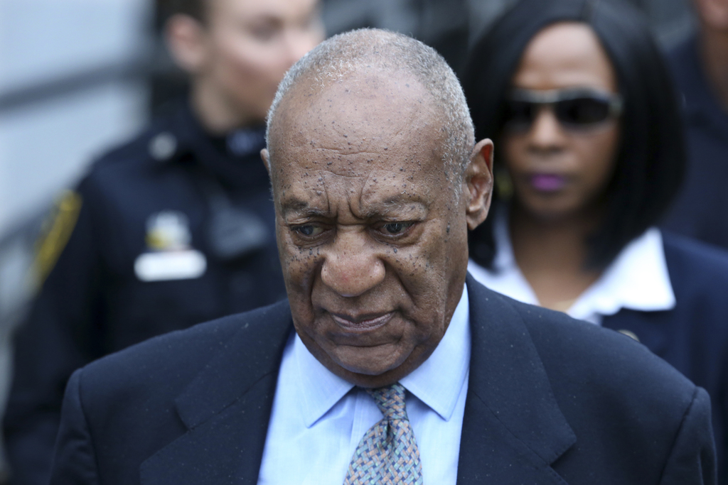 FILE - In this Tuesday, Nov. 1, 2016 file photo, Bill Cosby leaves after a hearing in his sexual assault case at the Montgomery County ...