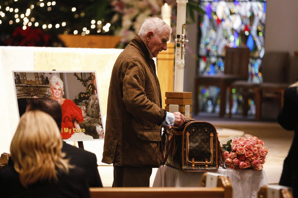 "Prince Frederic Von Anhalt attends Zsa Zsa Gabor's ""Celebration of Life"" memorial service at the Good Shepherd Church on Friday, Dec. 3..."