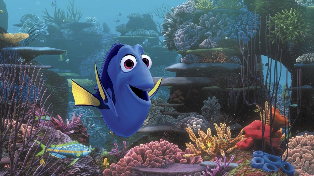 """FILE - This undated image released by Disney shows the character Dory, voiced by Ellen DeGeneres, in a scene from the animated movie """"F..."""
