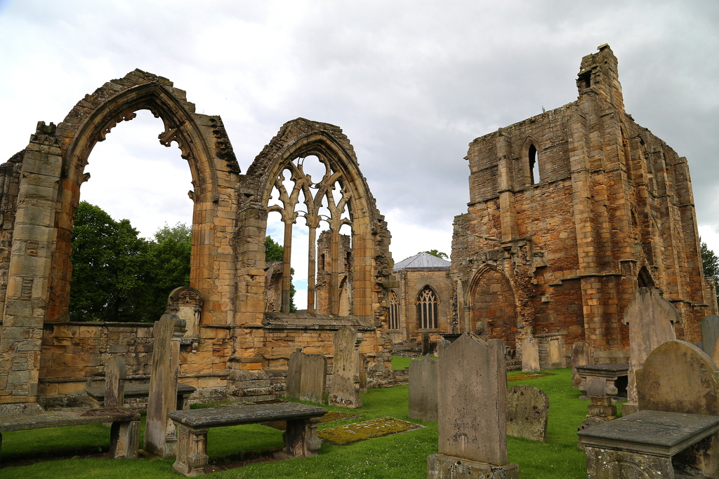 This photo taken June 29, 2016, shows the ruins of Elgin Cathedral. It is an impressive sight, especially the 13th-century west front, ...