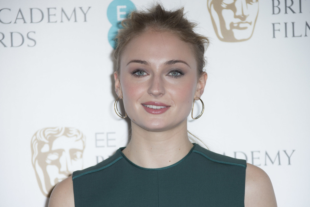 Actress Sophie Turner poses for photographers after announcing the nominations for the EE British Academy Film Awards in 2017 at a phot...