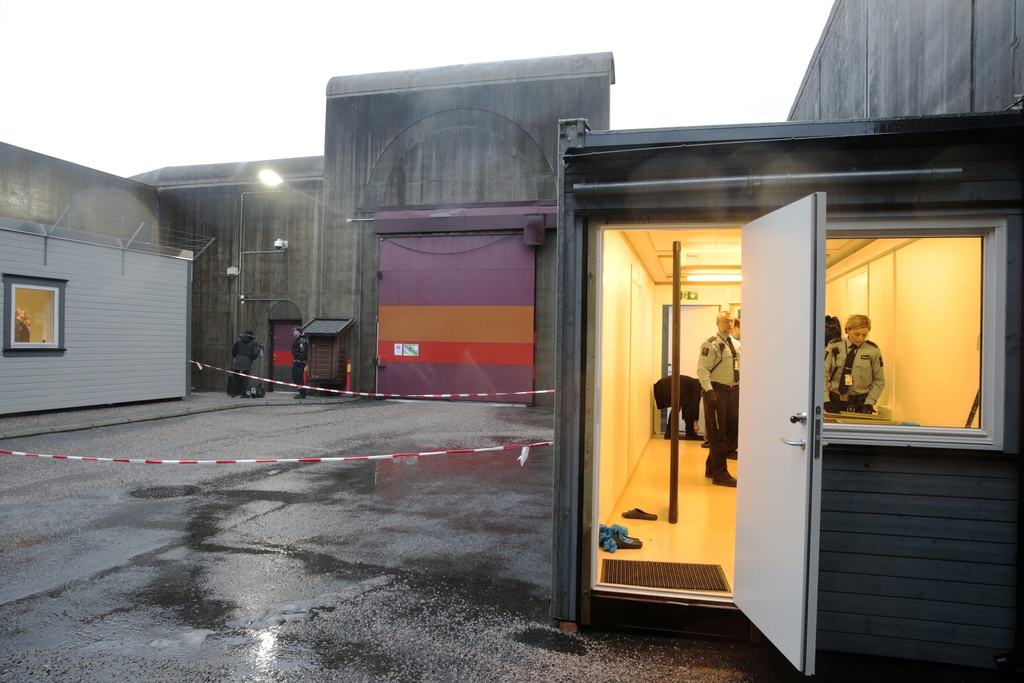 A general view of the entrance to Telemark prison, where the appeal case regarding Anders Behring Breivik's prison conditions will be h...