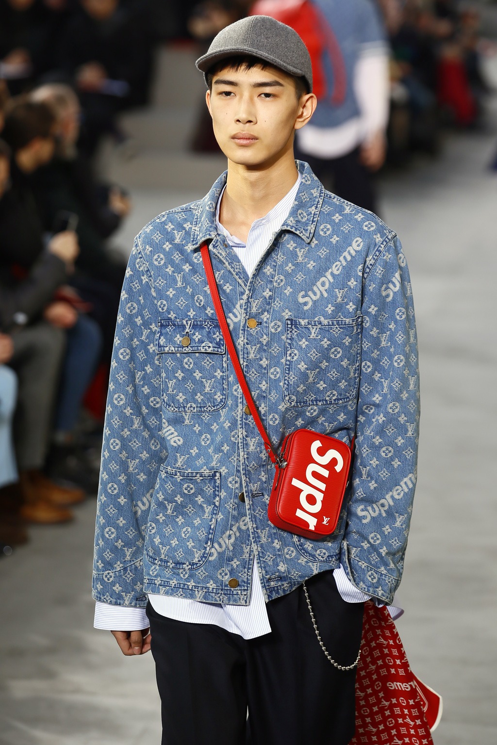 0ce407047fd A model wears a creation for Louis Vuitton Men s Fall Winter 2017-2018  fashion collection
