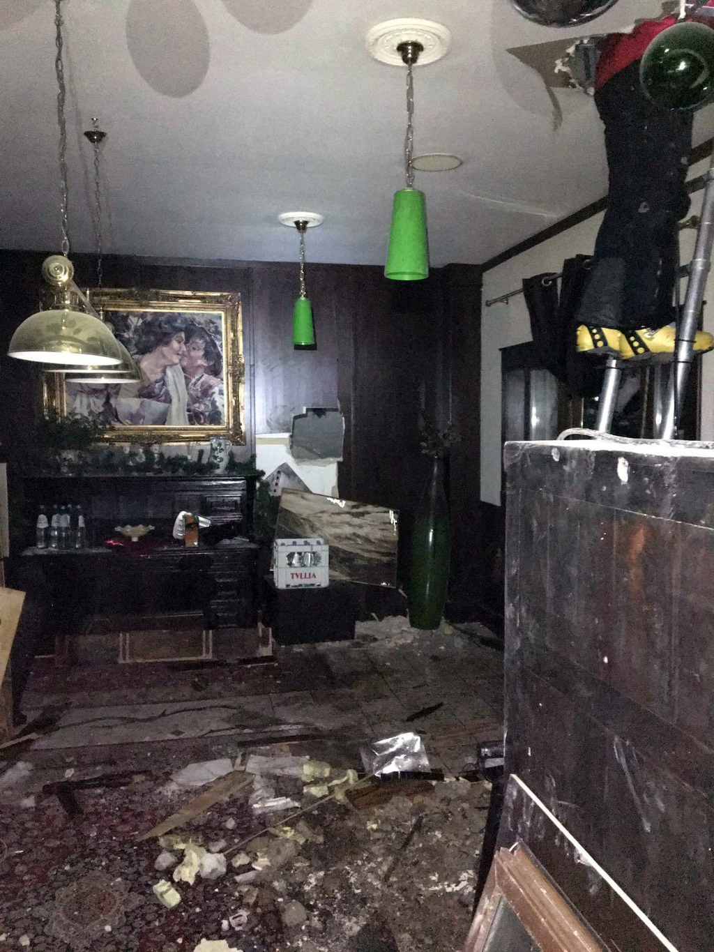 A view of the interior of the avalanche-hit Rigopiano hotel, Saturday, Jan. 21, 2017. After two days huddled in freezing cold, tons of ...