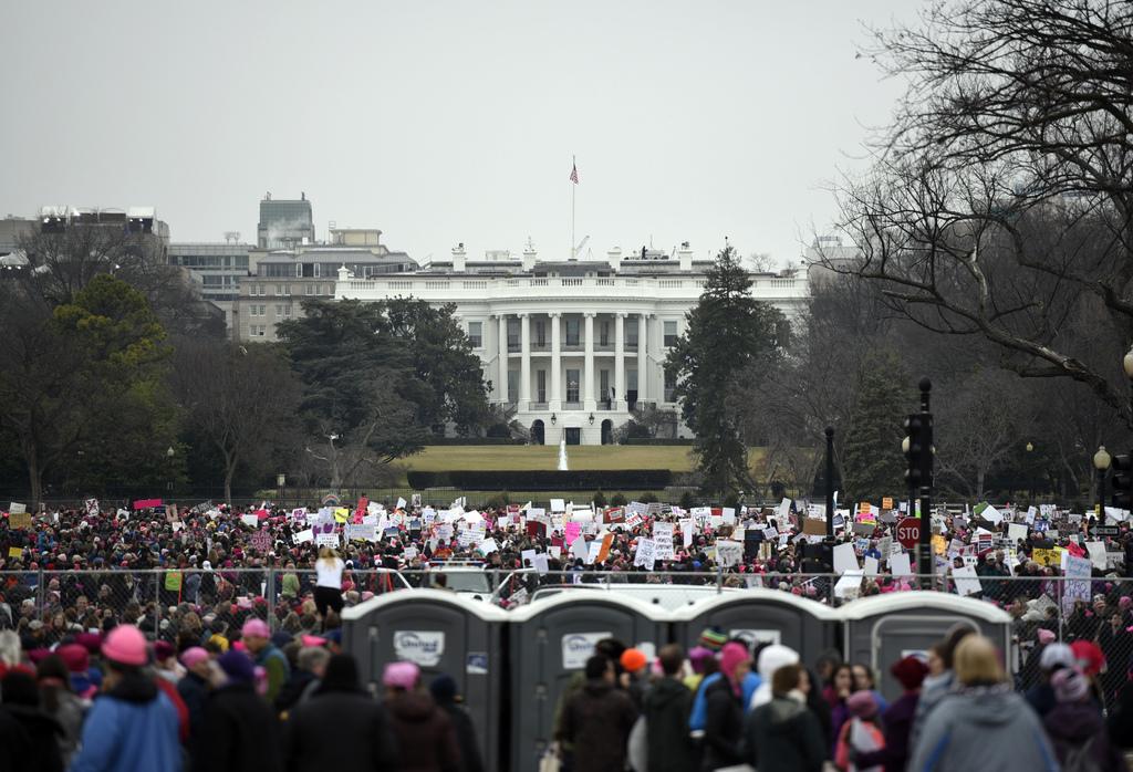 Demonstrators attend the Women's March on Washington on Saturday, Jan. 21, 2017 in Washington. (AP Photo/Sait Serkan Gurbuz)           ...