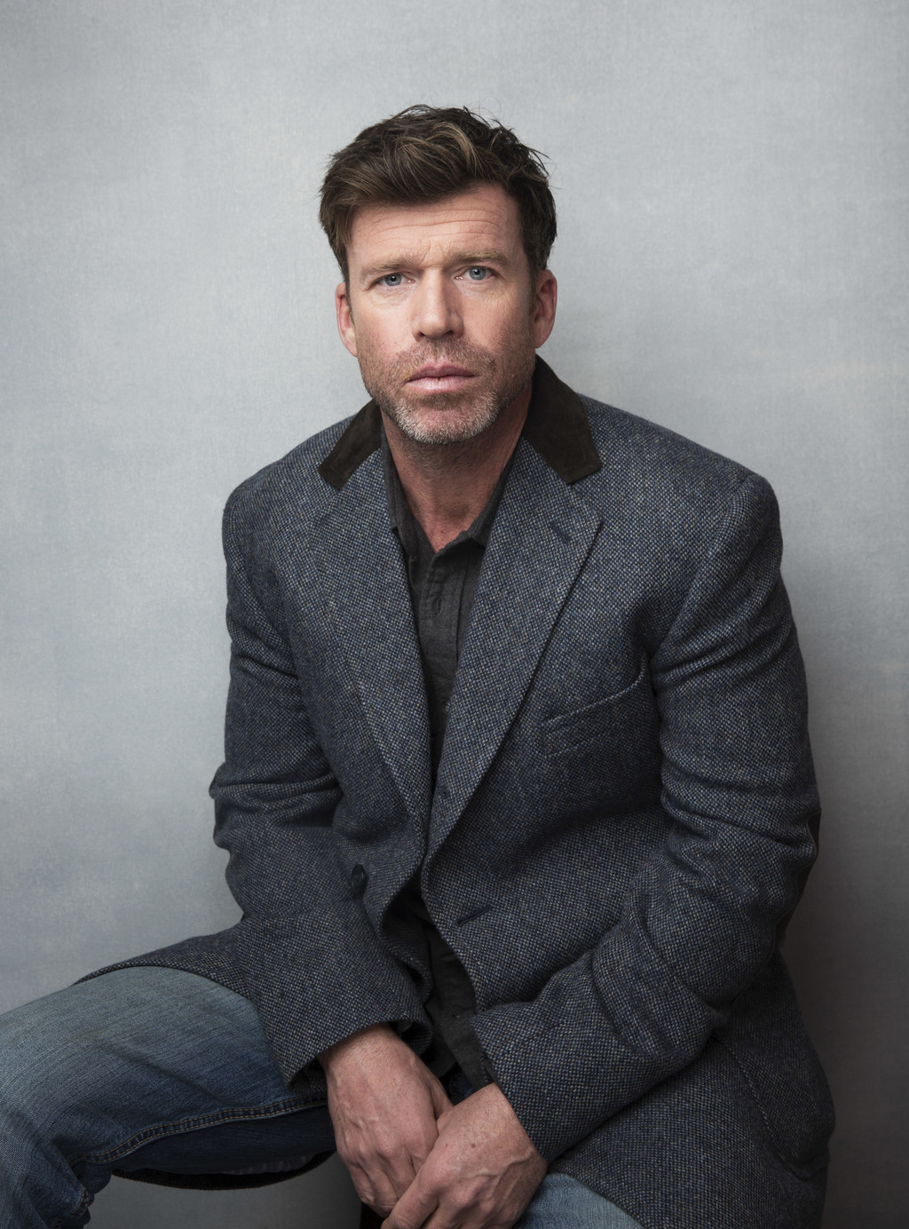 """FILE - In this Jan. 21, 2017 file photo, director Taylor Sheridan poses for a portrait to promote the film, """"Wind River during the Sundance Film Festi..."""
