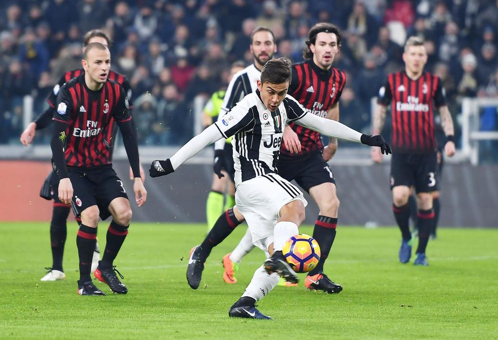 07dac666b Juventus' Paulo Dybala scores during the Italian Cup, Round of 8 soccer  match between