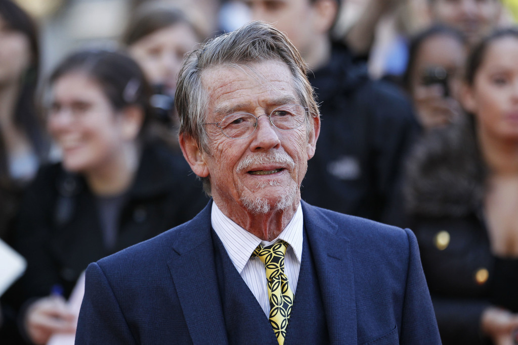 """File - This Sep. 13, 2011, shows British actor and cast member John Hurt arriving for the UK film premiere of """"Tinker Tailor Soldier Sp..."""