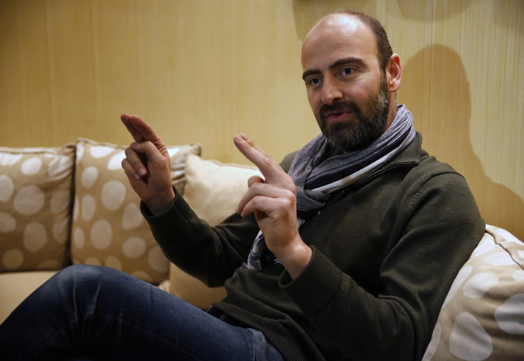 Kinan Azmeh, 40, a Syrian musician who is one of thousands of valid US green card holders who have found their immigration status in li...