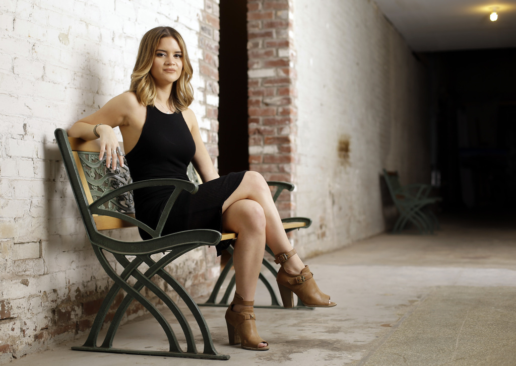 In this May 31, 2016, photo, Maren Morris poses in Nashville, Tenn. Morris  is nominated for a Grammy Award for best new artist.  The 5...