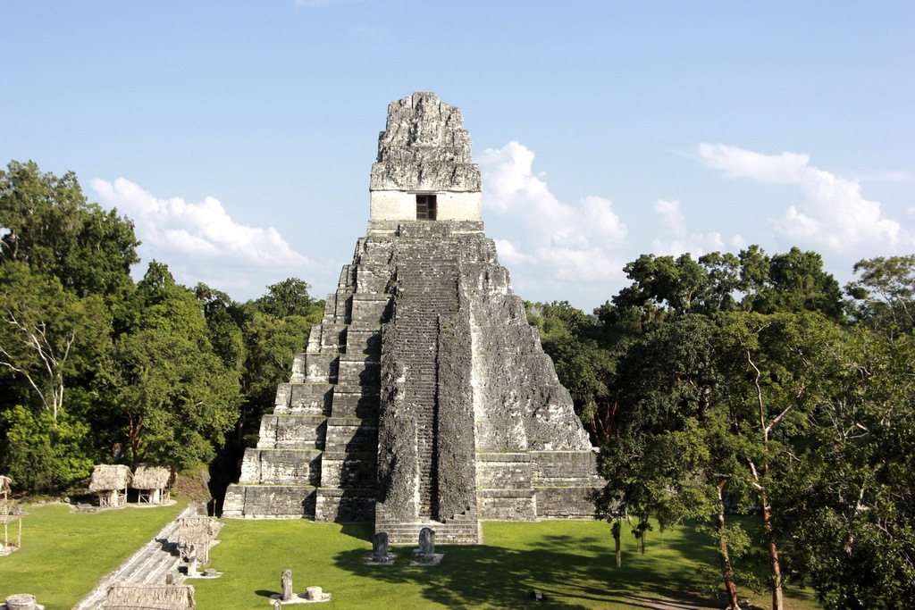 In this photograph taken Dec. 6, 2016, Temple I, also known as Temple of the Great Jaguar, is seen during a sunny day in northern Guate...