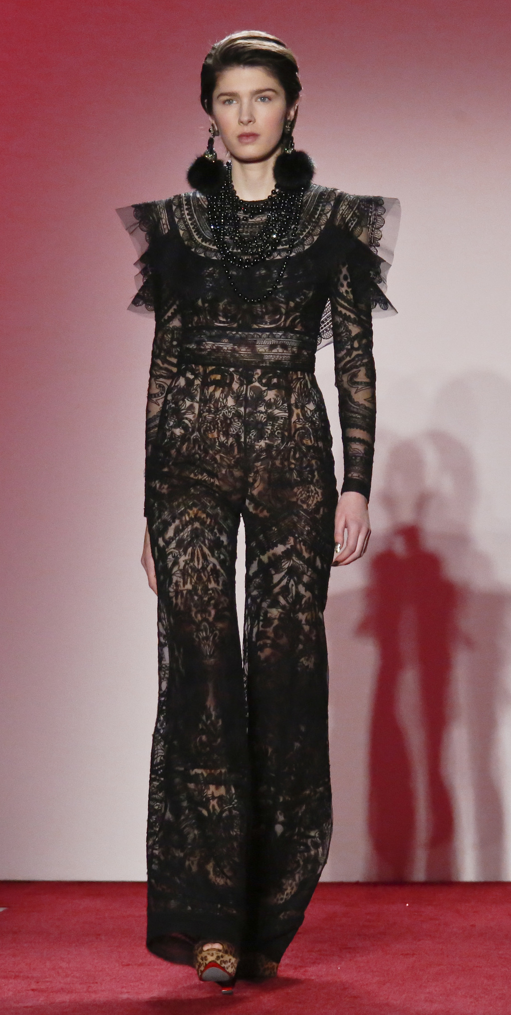 Fashion from the Naeem Khan collection is modeled during Fashion Week, Tuesday, Feb. 14, 2017, in New York. (AP Photo/Bebeto Matthews) ...