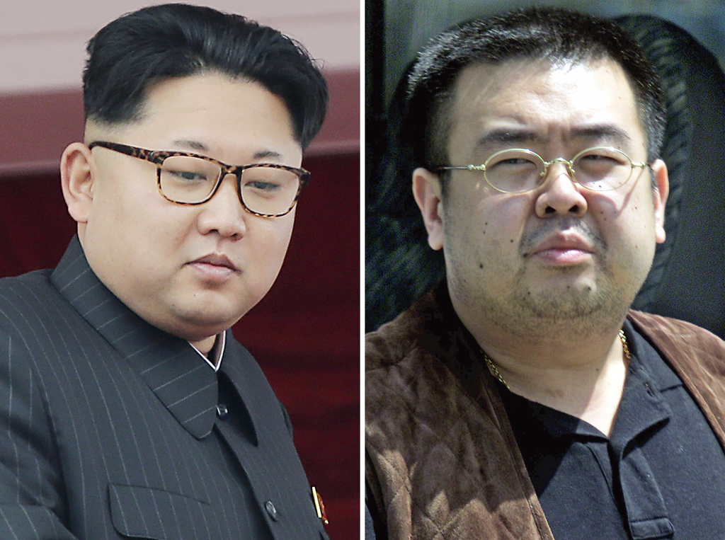 FILE - This combination of file photos shows North Korean leader Kim Jong Un, left, on May 10, 2016, in Pyongyang, North Korea, and Kim...