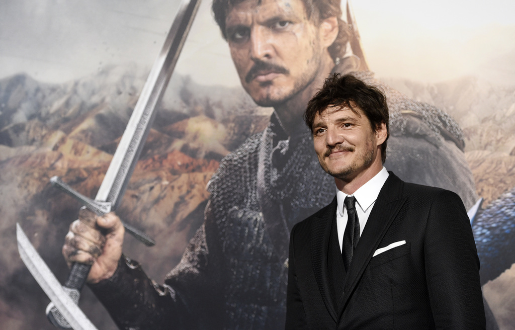 """Pedro Pascal, a cast member in """"The Great Wall,"""" poses at the premiere of the film at the TCL Chinese Theatre on Wednesday, Feb. 15, 20..."""